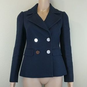 [Banana Republic] Navy Blue Mirror Button Peacoat